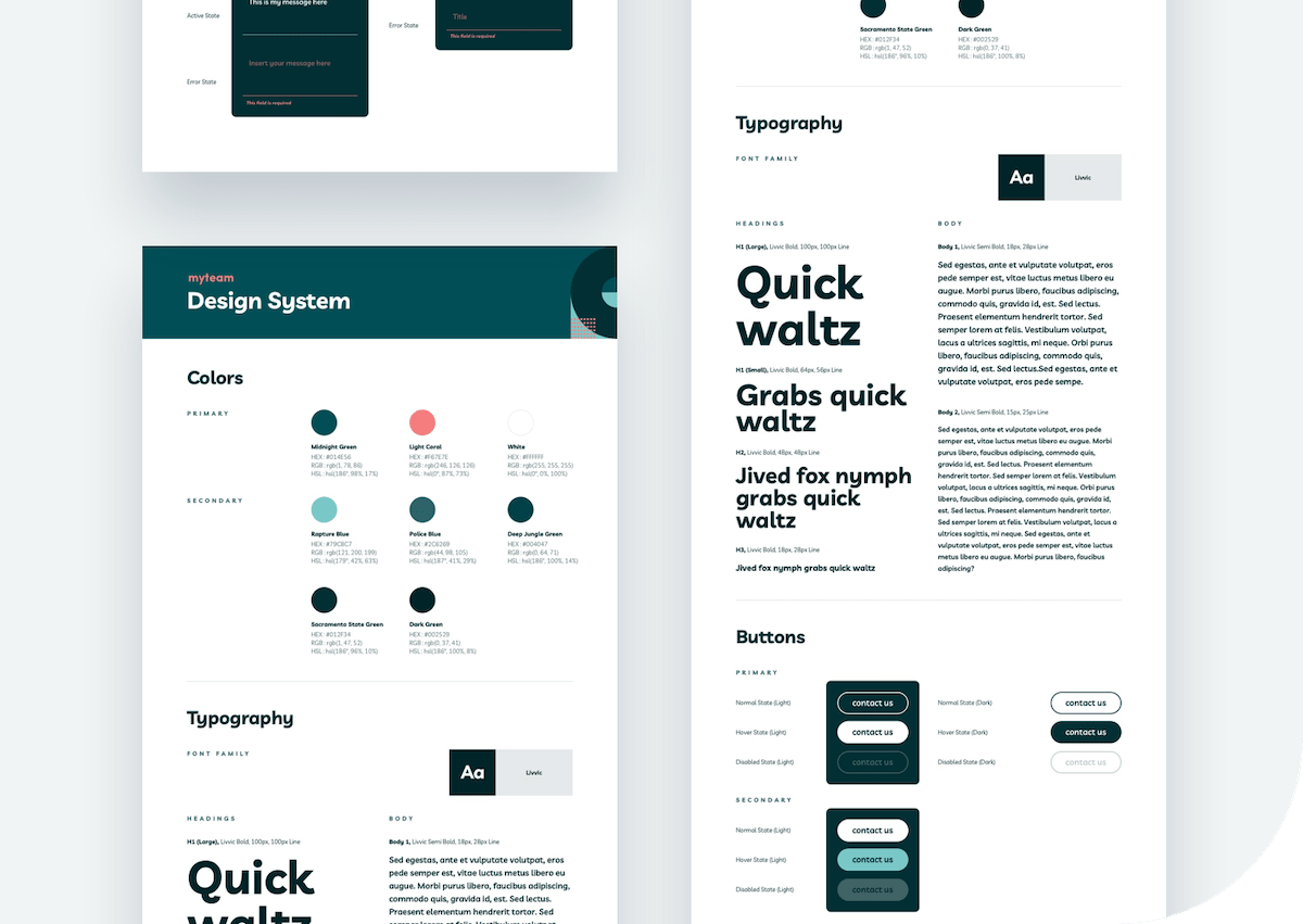 Preview of a design system